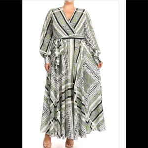 Dresses & Skirts - New Plus size maxi dress size boutique 1X